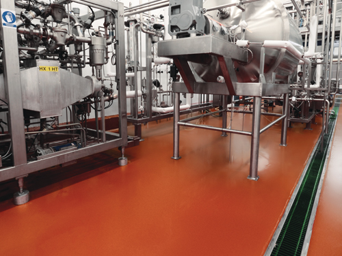 stonclad gs flooring in food and beverage facility